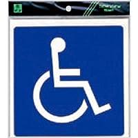 部屋案内シール【ES150-2】トイレ 身障者 軟質ビニール 1個 [光 hikari 案内プレート 案内サイン サインプレート]