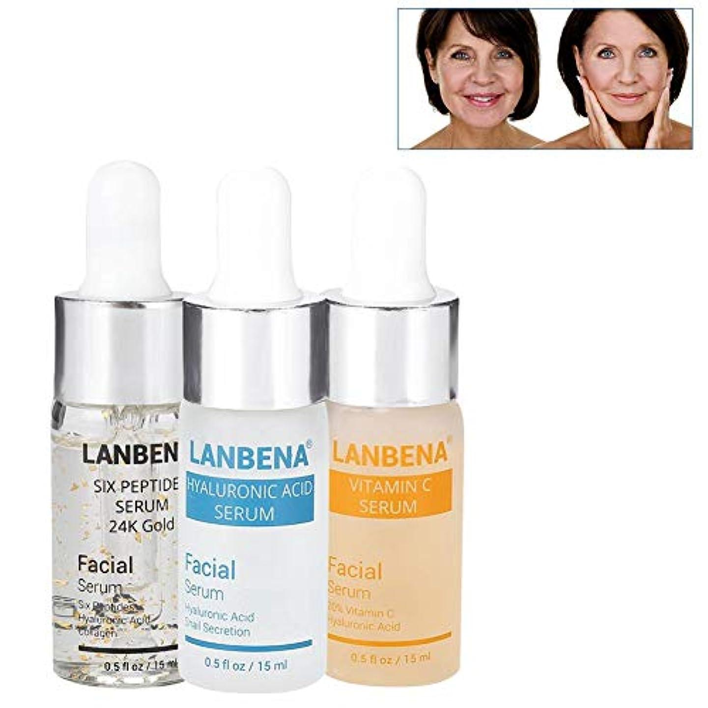 ランチョン実験的バターしわのそばかすおよび斑点を取除くための顔の24K金の反の顔のクリームの豊富なヒアルロン酸の血清の6つのペプチッド血清のためのSemmeのビタミンCの血清