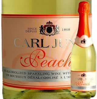 カールユング ピーチ スパークリングワイン 750ml ドイツワイン ノンアルコール シャンパン 風味