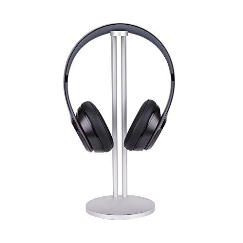 Winhi ヘッドホンスタンド アルミヘッドホンホルダー デスクトップヘッドセットホルダー 航空アルミニウム素材 組立式 携帯便利 多様式ヘッドセット対応 ハイライト工芸 ダブル シングル (シングル、シルバー)