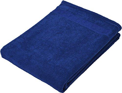 京都西川 タオルケット シングル 無地 綿100% 洗える ふわふわ やわらか 140×190cm ネイビー 1-JS-4000 S