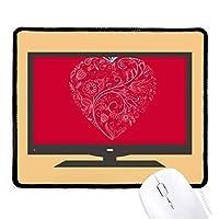 心の花のつるのバレンタインデーの形をした マウスパッド・ノンスリップゴムパッドのゲーム事務所