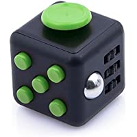 HAIYUE Fidget Cube 6in1 ストレス解消キューブ 不安 緊張 リリーフ ルービックキューブ おもちゃ クリスマスギフト 手持ちポケットゲーム集中力を高める道具 (ブラック+グリーン) [並行輸入品]