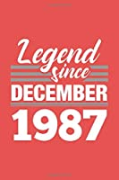 Legend Since December 1987 Notebook: Cornell Notes Journal - 6 x 9, 120 Pages, Affordable Gift, Valentine Red Matte Finish