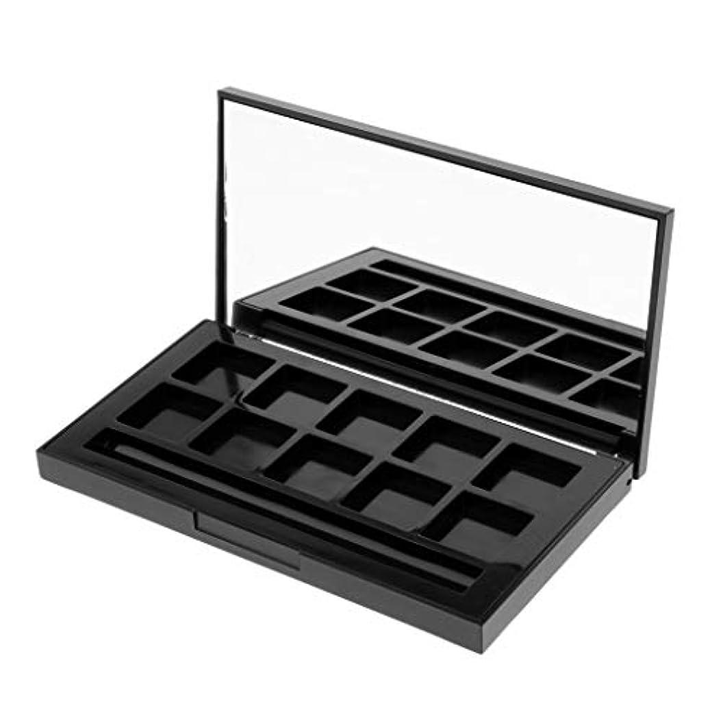 クッションバリーリークDYNWAVE メイクアップケース アイシャドウパレット リップグロス DIY 化粧品 小分け用 全2タイプ - 10グリッド