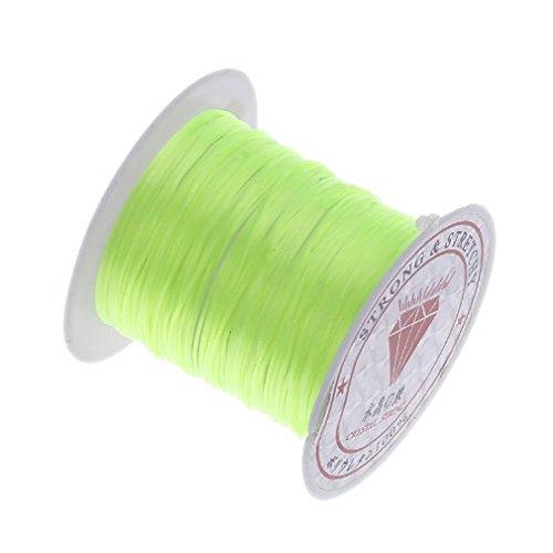 (ラボーグ)La vogue 弾力水晶の線 太さ0.8mmX10m 長 ブレスレット製作用ゴム糸 DIYハンドメイド手作り製品に最適 黄緑