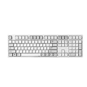 NiZ 静電容量無接点方式 35g荷重 USB/Bluetooth 4.0両対応 コンパクト プログラマブル 英語配列 PBT キーキャップ 多機能 キーボード (108 Keys)