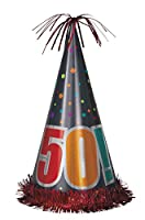 (Party Hat) - 33cm Giant Birthday Cheer 50th Birthday Party Hat