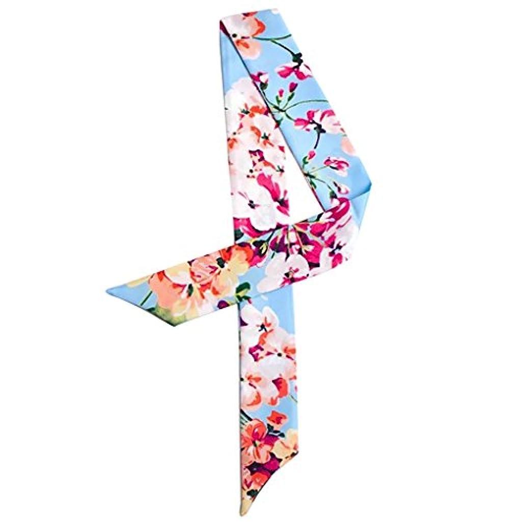 芝生シンプルさ公平MOMEPE レディース 制服用 通勤 花 スカーフ細いリボンスカーフ 優雅 バッグ用 持ち手 小物 巻きつけ バッグのハンドルの装飾 ヘッドバンド 髪飾り