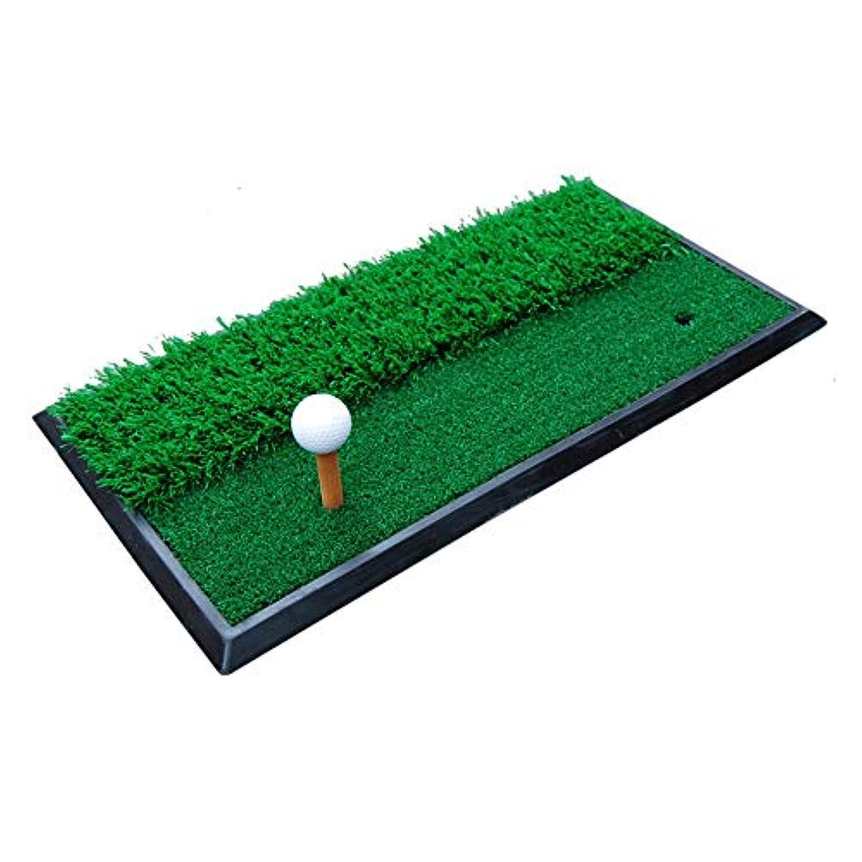 ナチュラル違う悪行ゴルフパッティングマット ゴルフマットスイングマットダブルグラスマット屋内練習マット用ホーム裏庭運転チッピング屋外練習ゴルフパッティングマット 屋内パッティンググリーン (色 : 緑, サイズ : 30*60CM)