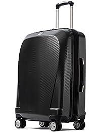 クロース(Kroeus)スーツケース キャリーケース 容量拡張機能 TSAロック搭載 ファスナータイプ エンボス加工 軽量 ダブルキャスター S型機内持ち込み可 トランクケース 出張 日本語取扱説明書 1年間保証