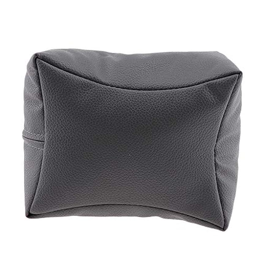 くつろぎ仲良し投げ捨てるネイルハンドピロー プロ ネイルサロン 手枕 レストピロー ネイルケア 4色選べ - グレー