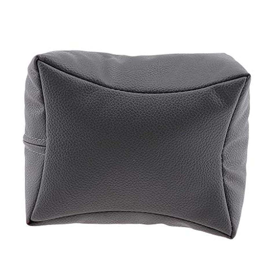 P Prettyia ネイルハンドピロー プロ ネイルサロン 手枕 レストピロー ネイルケア 4色選べ - グレー