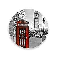 コースター おしゃれ 茶パッド ロンドン電話局 滑り止め エコ 速乾 抗菌 消臭 4枚セット