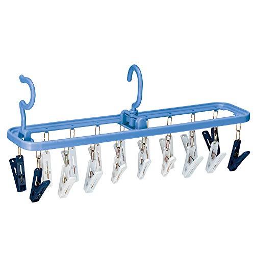 ダイヤコーポレーション 洗濯物ハンガー ブルー ピンチ数18 ダイヤ 干し分け角ハンガーストロング18 057546 B07N95JV4B 1枚目