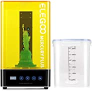 ELEGOO Mercury Plus 2 in 1 Washing and Curing Machine for LCD/DLP/SLA 3D Printed Models Resin UV Curing Box wi