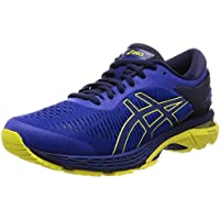 ASICS Australia Gel-Kayano 25 Men's Running Shoe, Blue/Lemon Spark