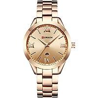 CURREN Watch Women Quartz Watches Ladies Top Brand Luxury Female Wrist Watch Girl Clock Rose Gold