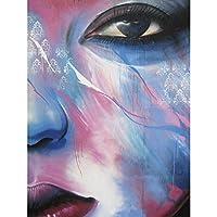 Graffiti Beautiful Face Painting Large Canvas Wall Art Print 落書き綺麗な面ペインティング壁