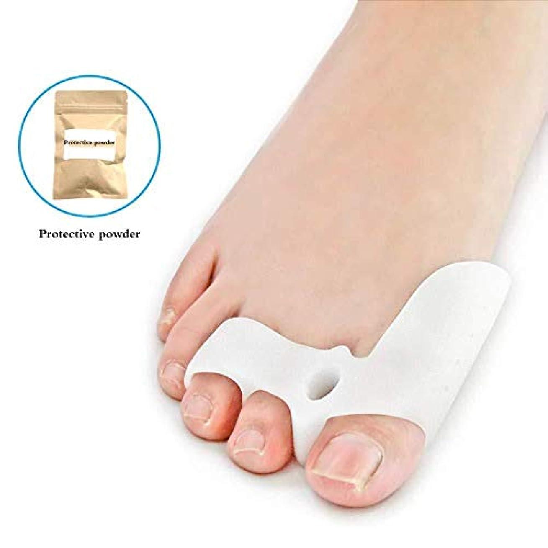 測定可能溢れんばかりの銀つま先セパレーター、ゲルつま先セパレーターストレッチャーつま先カフ緩和セット足の痛み脛骨の痛み