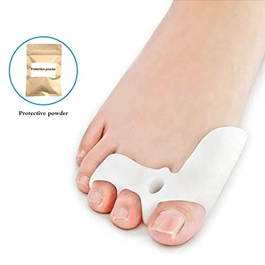 粘液ピカリングよく話されるつま先セパレーター、ゲルつま先セパレーターストレッチャーつま先カフ緩和セット足の痛み脛骨の痛み