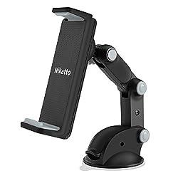 Nikatto【進化版】車載ホルダー 三軸 アーム 角度 自由に調整可 スマホ タブレット 3.5インチ~10.1インチ 大型スマホ対応