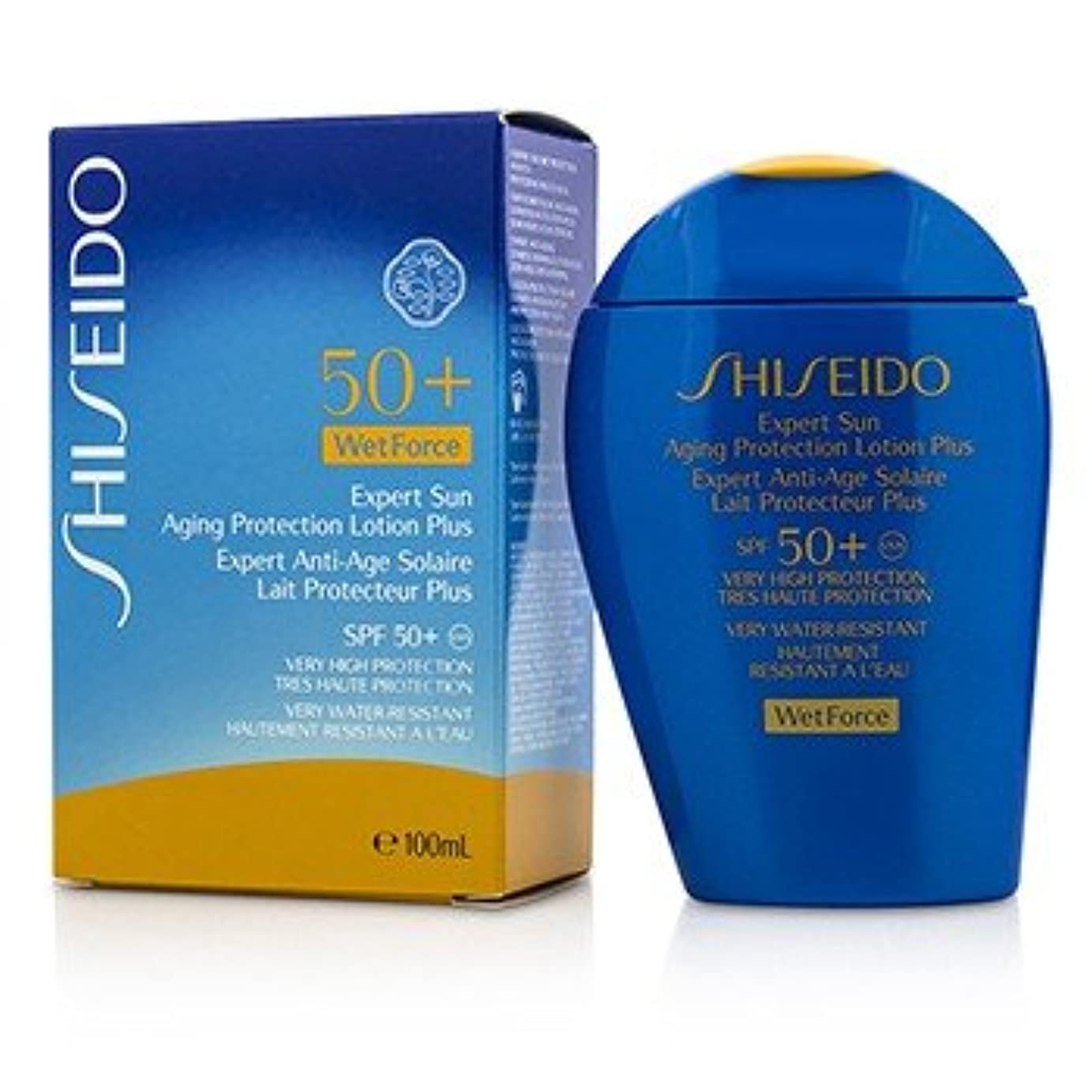 デュアルチャット冗長[Shiseido] Expert Sun Aging Protection Lotion Plus WetForce For Face & Body SPF 50+ 100ml/3.4oz