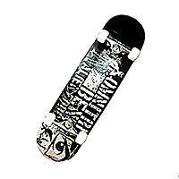 メープル - 四輪 - ハイウェイスケートボード - ブラシストリート - ダブルスケートボード - ノンスリップ - 初心者 - スケートボード (色 : B)