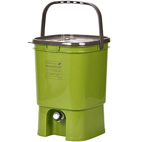 生ごみ処理器 初心者セット キッチンコンポスト&EMボカシ肥料 (グリーン)