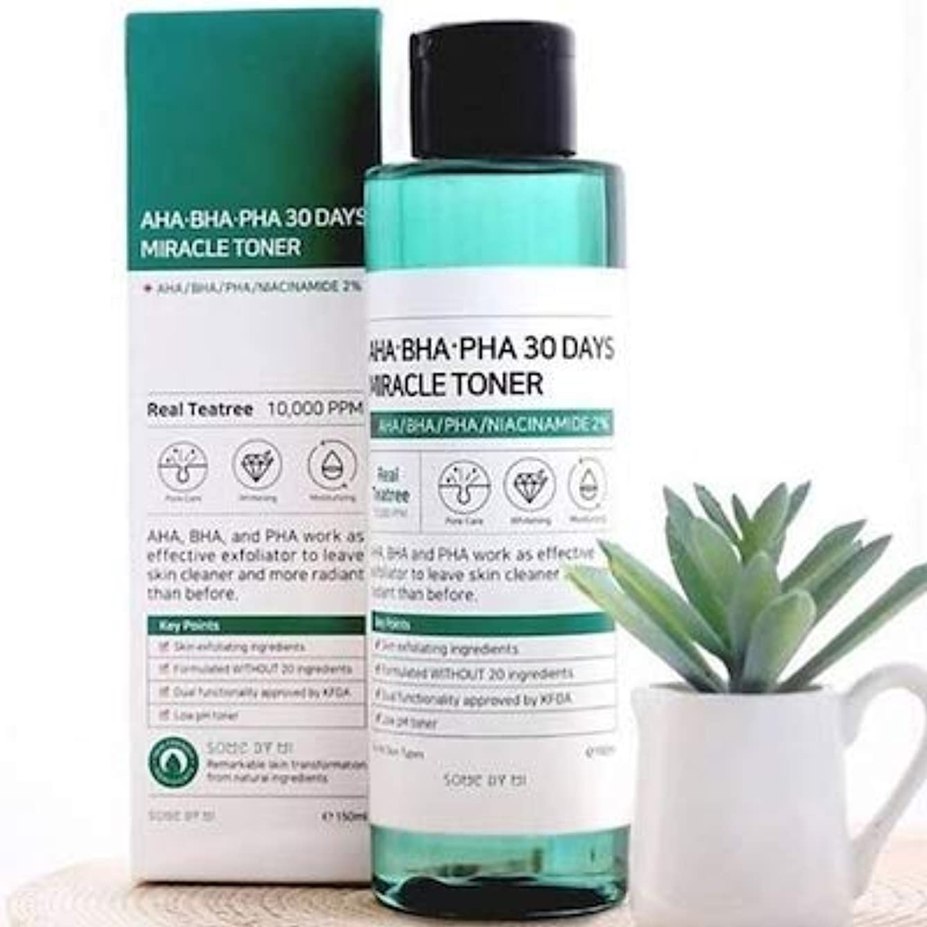 ピービッシュクッション引き潮Somebymi AHA. BHA. PHA 30Days Miracle Toner 150ml/Korea Cosmetic [並行輸入品]