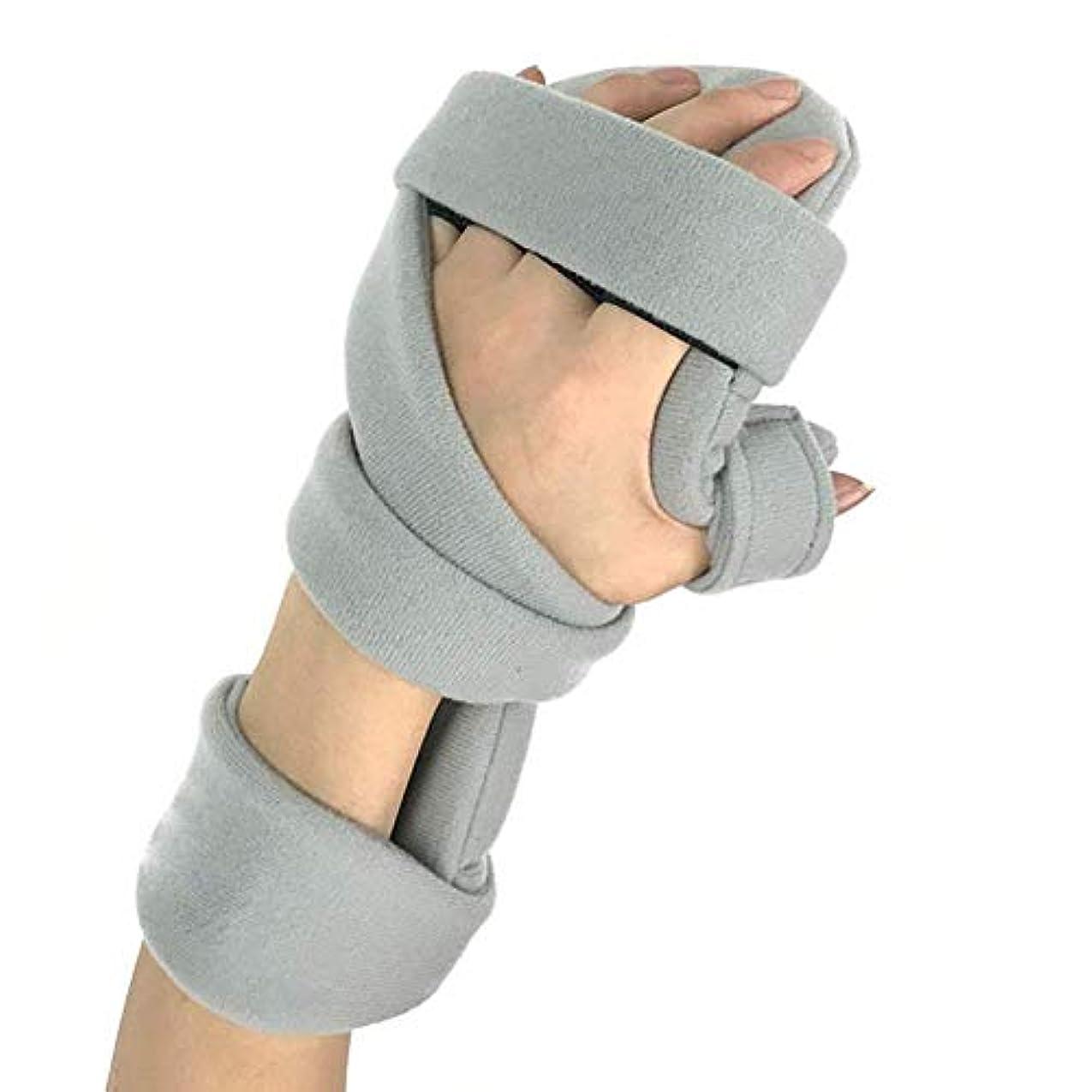 ボタンモス布手の添え木、リハビリテーションの指板調節可能な手のサポート手首の手首の骨折の固定保護装置の添え木の整形外科の訂正の支柱 (Color : Right)