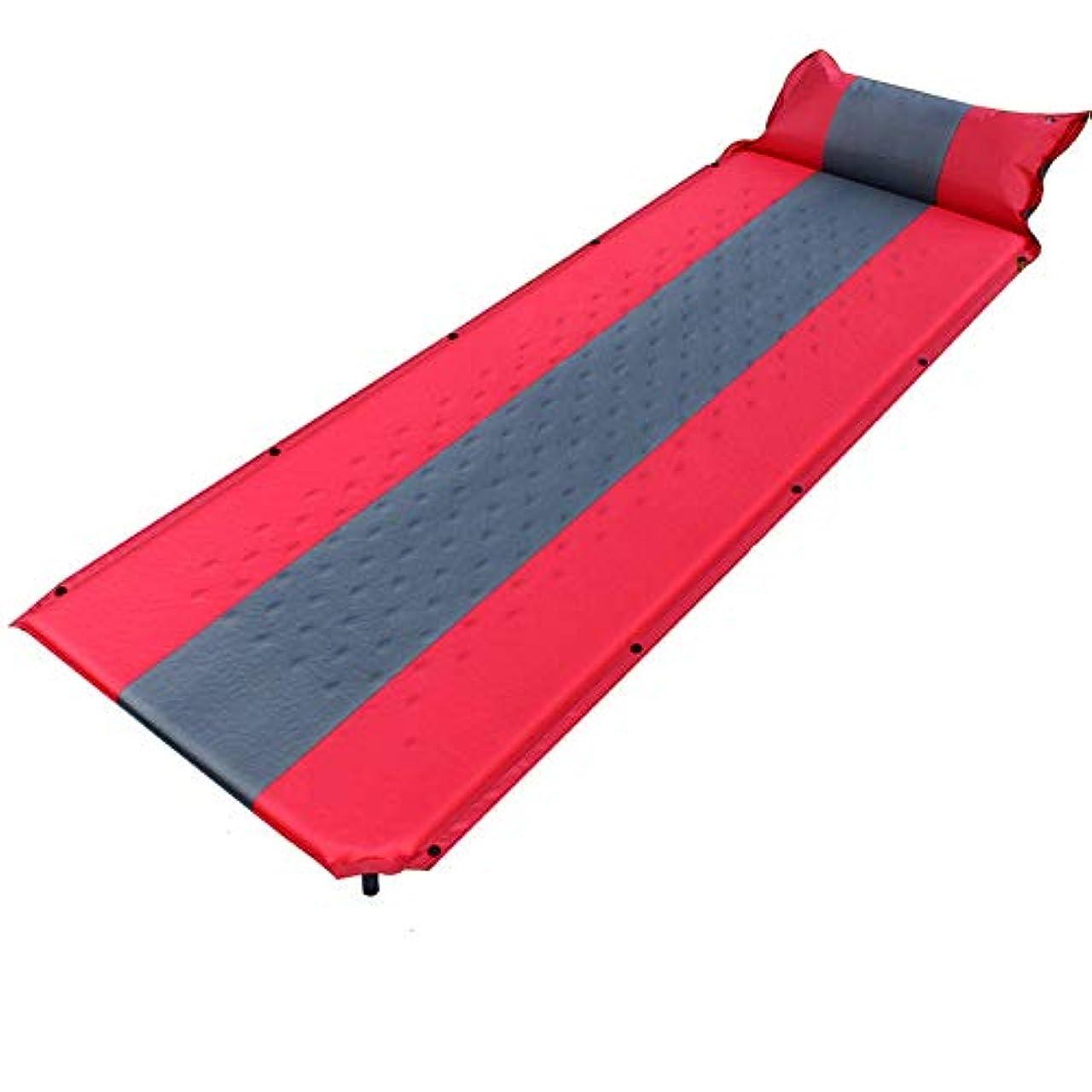 時期尚早修正ランク自己膨脹式キャンプマットスリーピングパッド付き枕メモリースポンジスプライス可能ピクニックビーチマットレスポータブルテントベッドマット