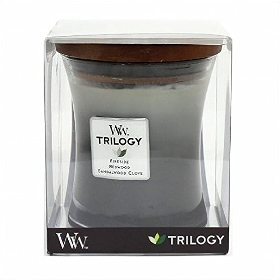 シャークエンジン投資するカメヤマキャンドル( kameyama candle ) Wood Wick トリロジージャーM 「 ウォームウッズ 」