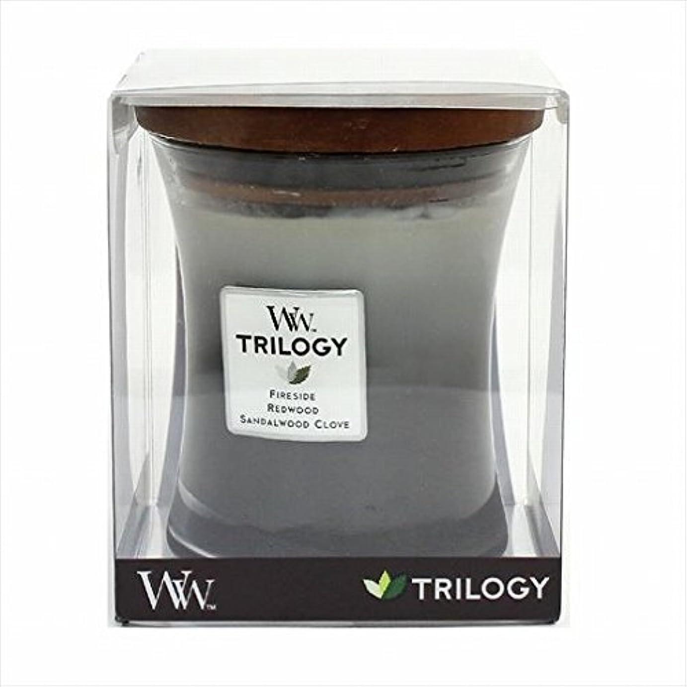 エステート継続中ストレージカメヤマキャンドル( kameyama candle ) Wood Wick トリロジージャーM 「 ウォームウッズ 」