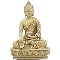 Wish giving Buddha Statue Inストーン仕上げ、5インチ