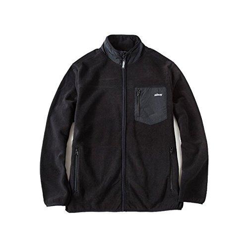 (ステューシー) STUSSY Geo Camo Jacket 118143 Mサイズ ステューシー フリースジャケット メンズ ブラック ゲオ カモ ジャケット [並行輸入品]
