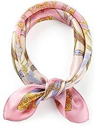 レディース スカーフ 100% シルク 正方形 アニマル柄 お洒落 ツイリー