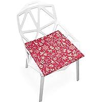 座布団 低反発 赤 クリスマス ビロード 椅子用 オフィス 車 洗える 40x40 かわいい おしゃれ ファスナー ふわふわ fohoo 学校
