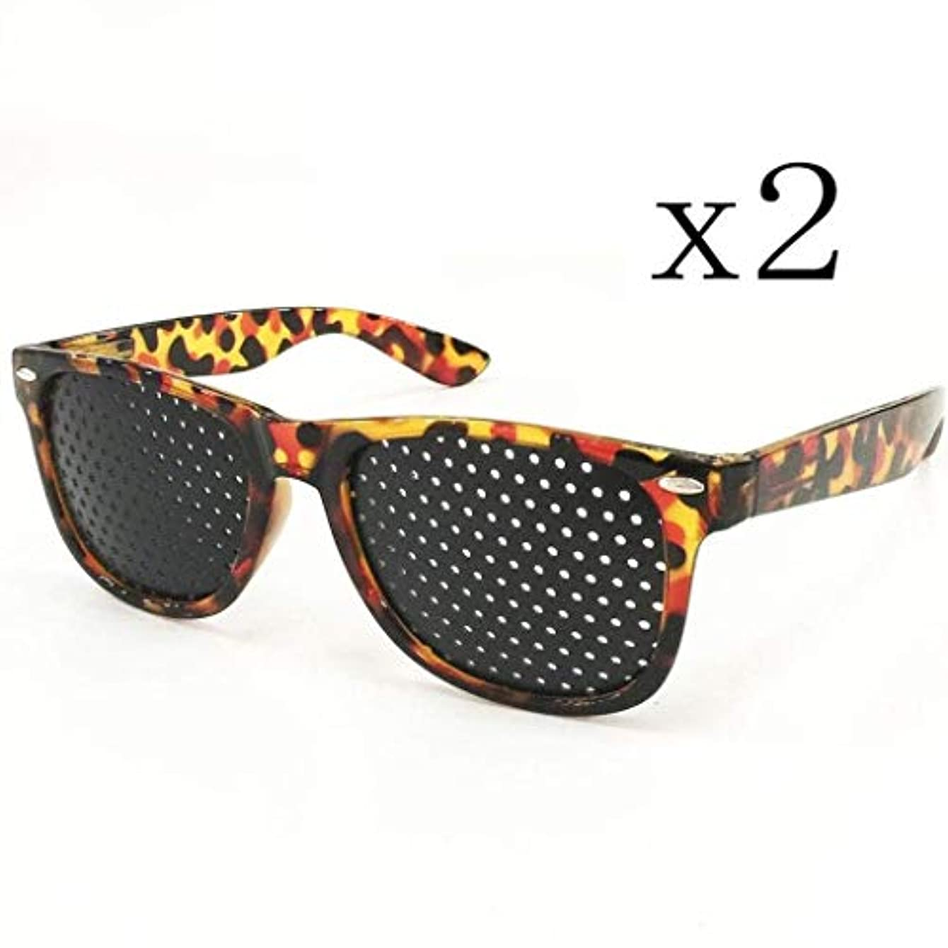 報復する嫌がる平凡ピンホールメガネ、アイズエクササイズアイサイトビジョンメガネの改善ビジョンケアメガネ近視の防止メガネの改善