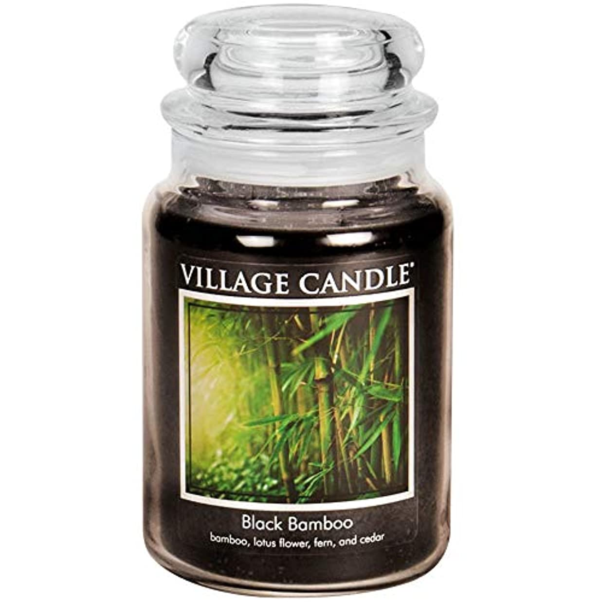 攻撃ふりをする迫害するVillage Candle Large Fragranced Candle Jar?つ - 17cm x 10cm - 26oz (1219g)- Black Bamboo - upto 170 hours burn...