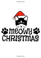 Notebook: Cat Christmas Meow Santa Funny Gift 120 Pages, A4 (About 8,5X11 Inches / Letter), Blank, Diary
