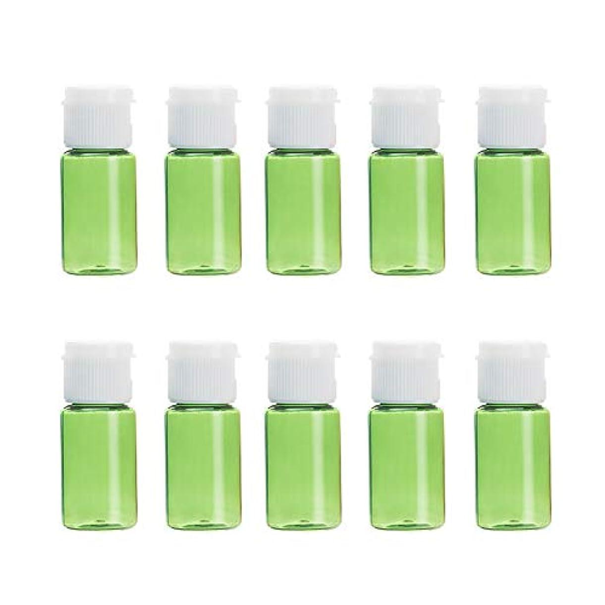 中毒まどろみのあるブローホールVi.yo 小分けボトル 香水ボトル 化粧水 詰替用ボトル 携帯用 旅行用品 10ml 10本セット グリーン