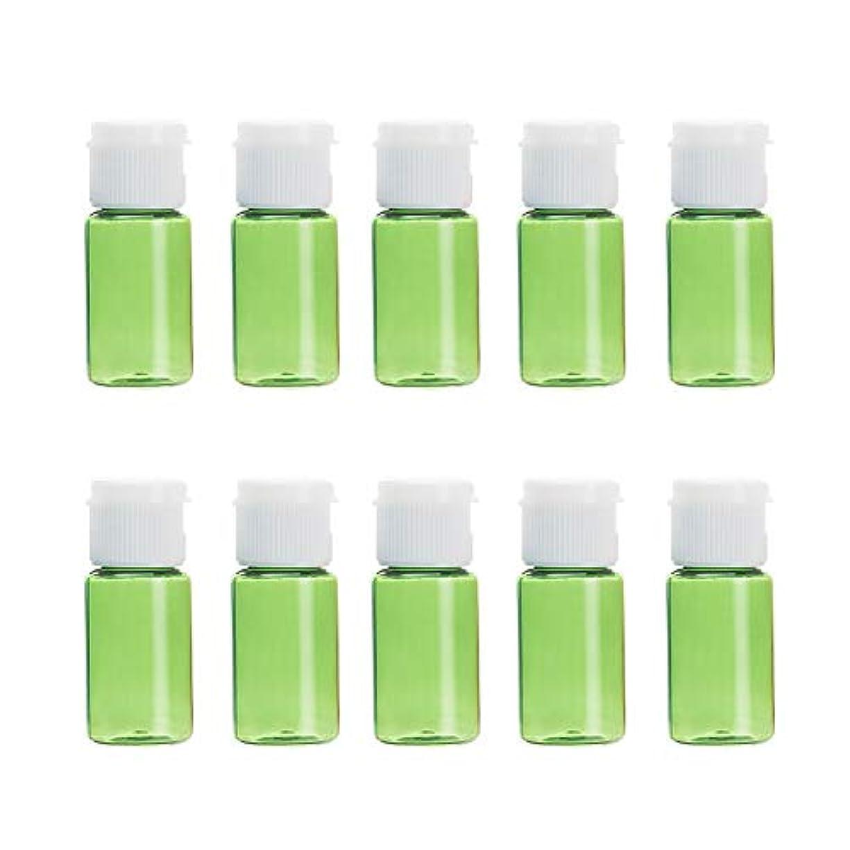 練習した残忍な困ったVi.yo 小分けボトル 香水ボトル 化粧水 詰替用ボトル 携帯用 旅行用品 10ml 10本セット グリーン