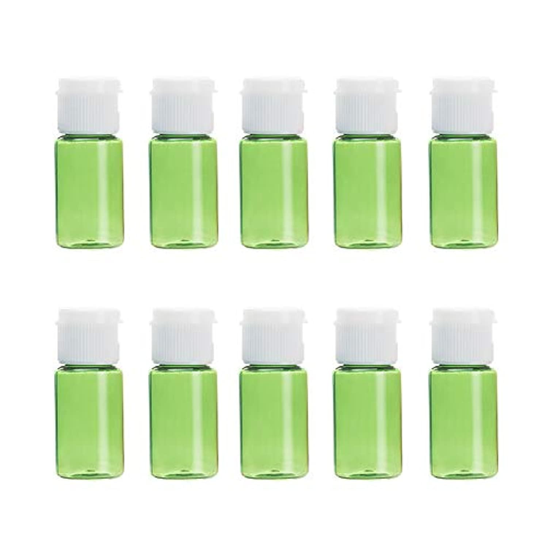 ペンスギャラリー傘Vi.yo 小分けボトル 香水ボトル 化粧水 詰替用ボトル 携帯用 旅行用品 10ml 10本セット グリーン
