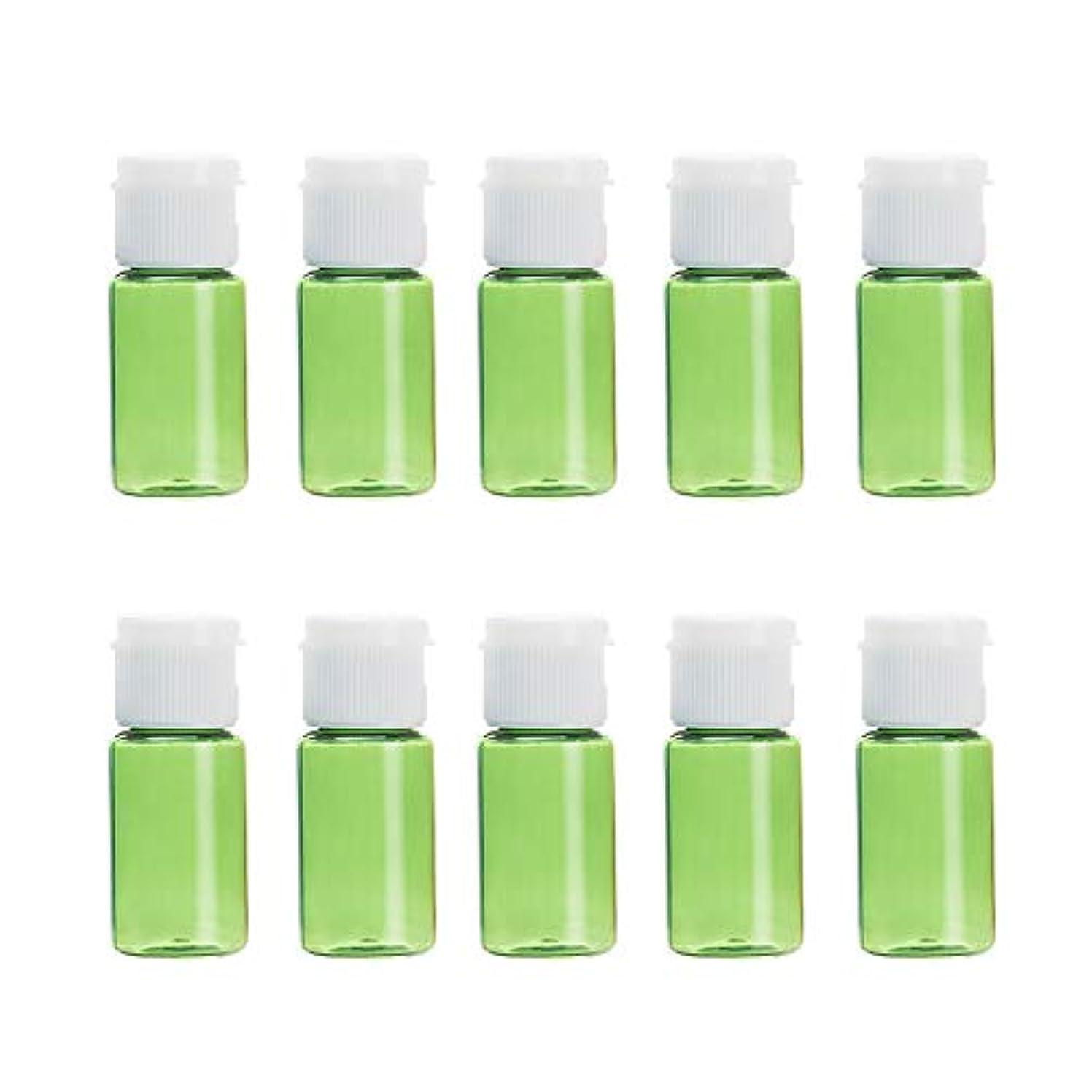 適格ゾーン魂Vi.yo 小分けボトル 香水ボトル 化粧水 詰替用ボトル 携帯用 旅行用品 10ml 10本セット グリーン