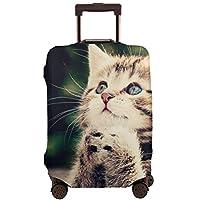 スーツケースカバー 伸縮素材 欧米風 キャリーバッグ お荷物カバー 通気性 出張 旅行 かわいい猫はユニークです