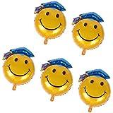 Fenteer 5個 バルーン 風船 角帽 かわいい 卒業式 卒業パーティー お祝い 装飾 パーティー 飾り付け