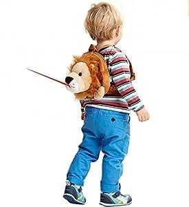 【ベビーアムール 】Bebamour 迷子防止リュック ハーネス隠し可能 アニマル ヌイグルミ 子ども用バッグ 迷子リュック(ライオン)