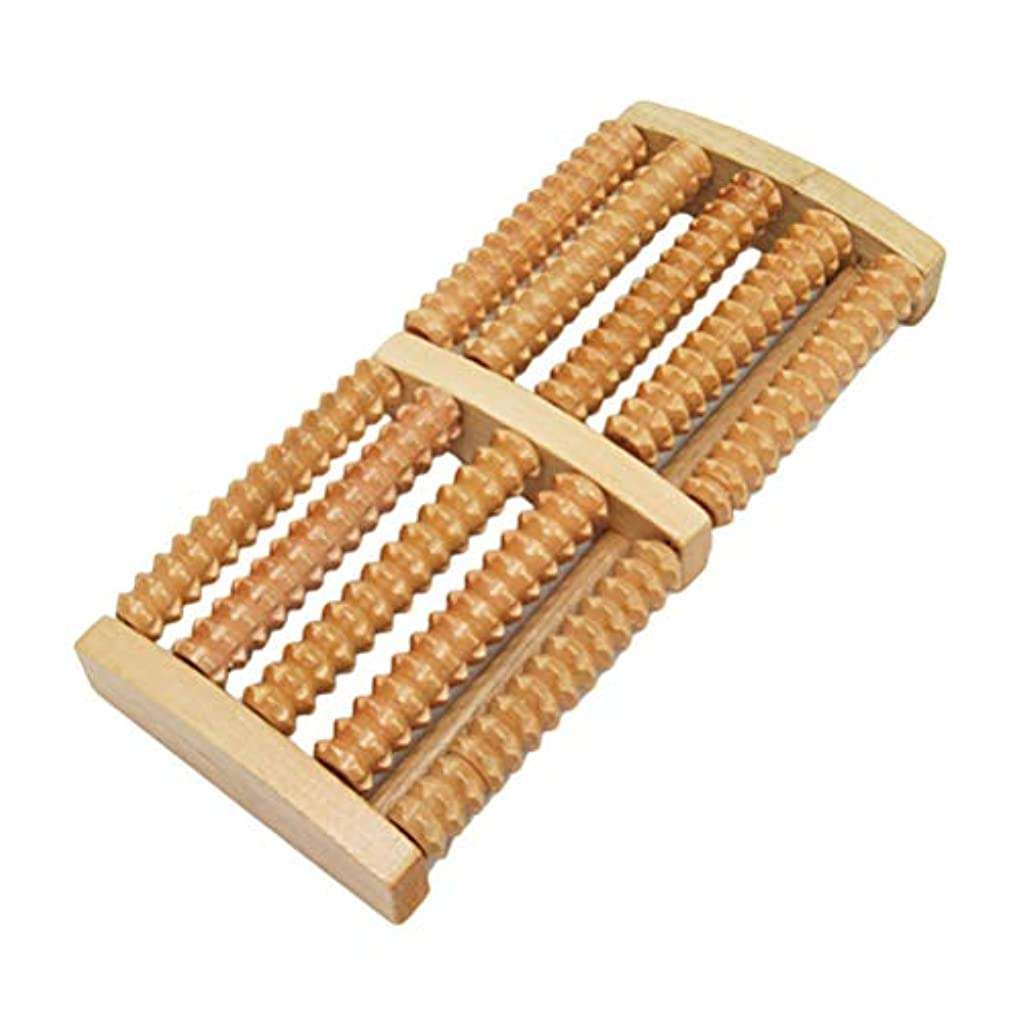 OUNONA フットマッサージャー 足踏み 足つぼマッサージ リラックス 足ツボ 血行促進 ツボ押し ローラーマッサージ 木製