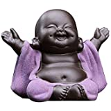 Kingzhuo Ceramic Little Cute Baby Buddha Statue Monk Figurine Buddha Figurines Home Decor Creative Baby Crafts Dolls Ornament
